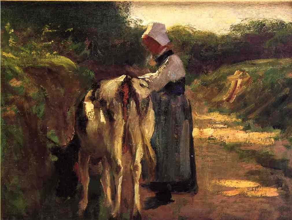 Edward Henry Potthast Grazing by the Roadside