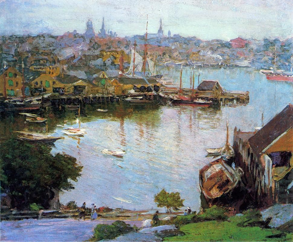Edward Henry Potthast Harbor Village