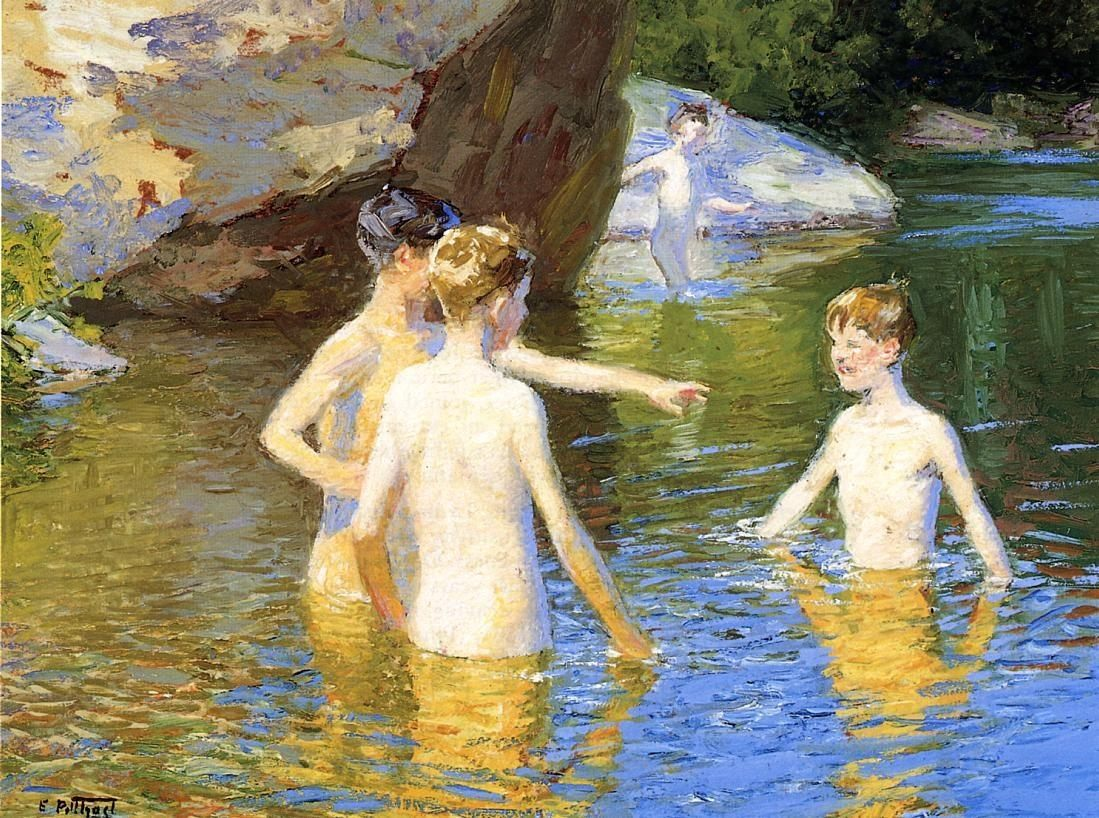 Edward Henry Potthast In the Summertime