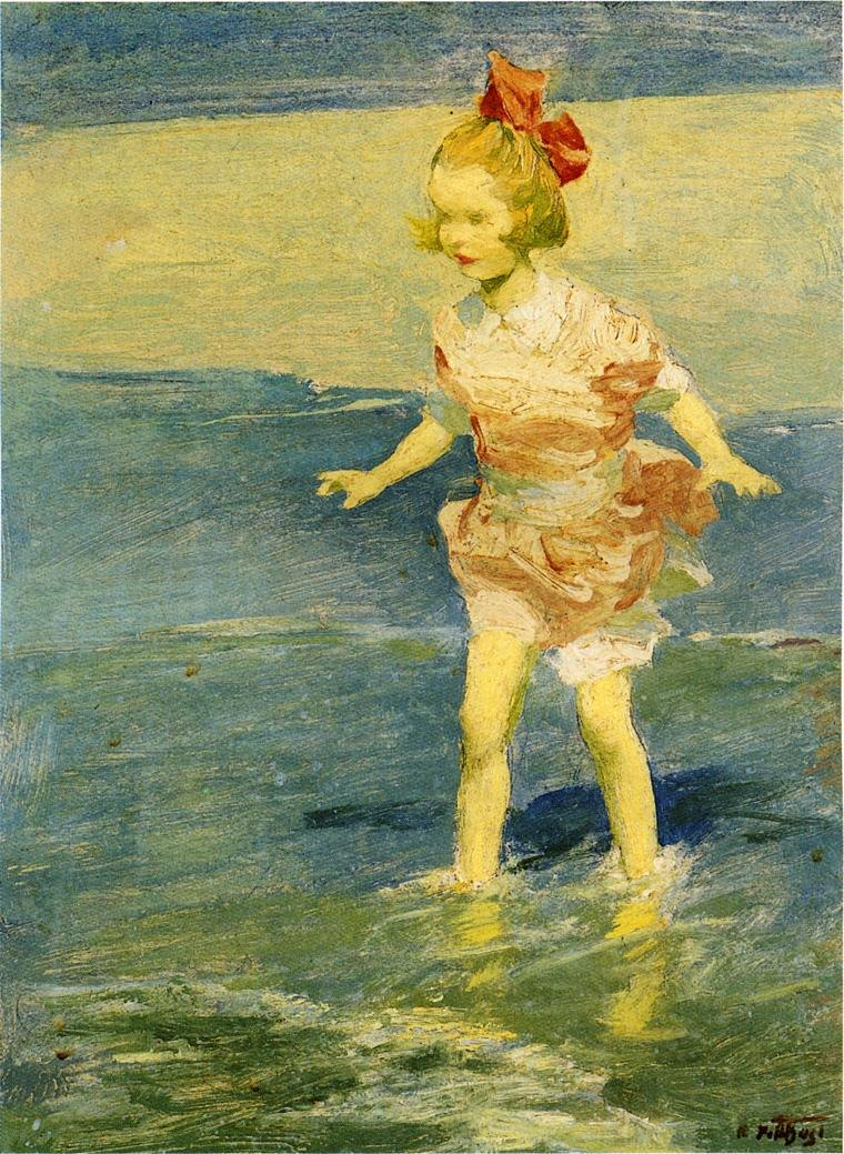 Edward Henry Potthast In the Surf