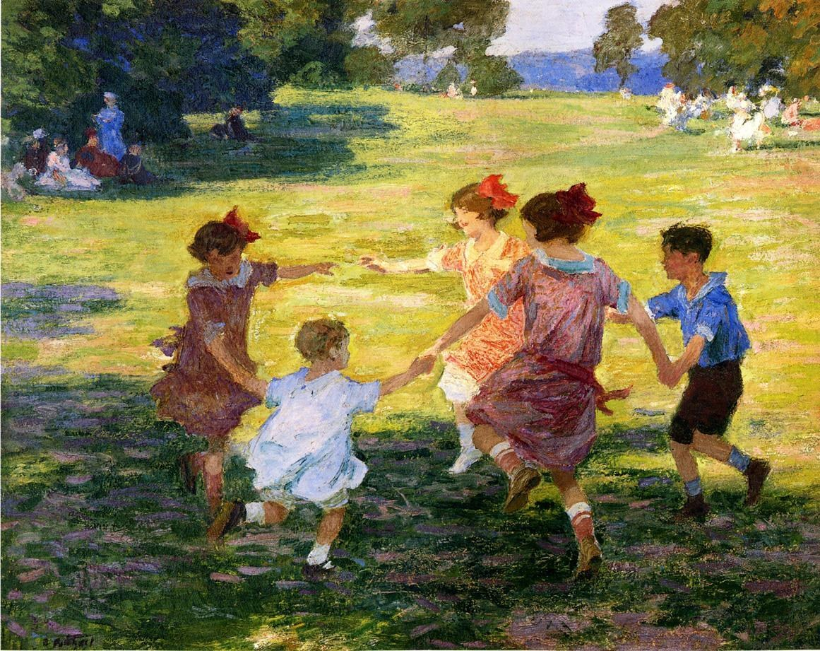 Edward Henry Potthast Ring Around the Rosie
