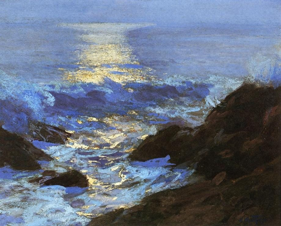 Edward Henry Potthast Seascape Moonlight