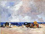 Edward Henry Potthast A Day at the Beach painting
