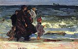 Edward Henry Potthast A Family at the Beach painting