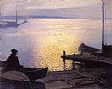 Edward Henry Potthast Along the Mystic River painting