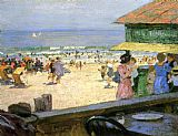 Edward Henry Potthast Beach Scene 5 painting