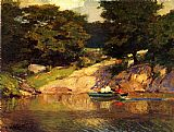Edward Henry Potthast Boating in Central Park painting