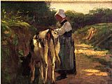 Edward Henry Potthast Grazing by the Roadside painting