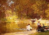 Edward Henry Potthast In Central Park painting