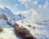 Edward Henry Potthast In Cloud Regions painting