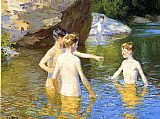 Edward Henry Potthast In the Summertime painting