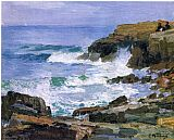 Edward Henry Potthast Looking out to Sea painting