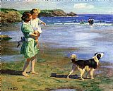 Beach paintings - Summer Pleasures by Edward Henry Potthast