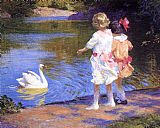 Edward Henry Potthast The Swan painting