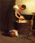 Edward Henry Potthast The Washerwoman painting