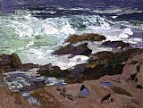 Edward Henry Potthast Wild Surf Ogunquit Maine painting