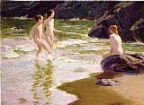 Edward Henry Potthast Young Bathers painting