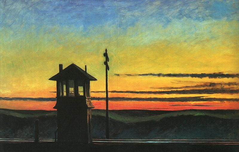 Edward Hopper Railroad Sunset