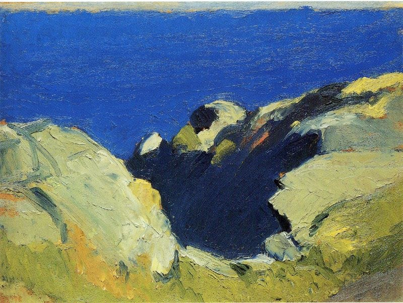 Edward Hopper Rocks and Sea