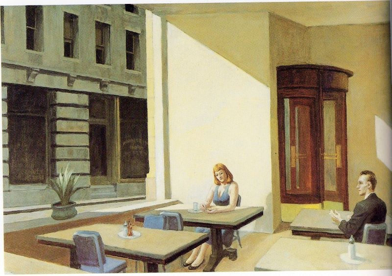 Edward Hopper Sunlight in a Cafeteria