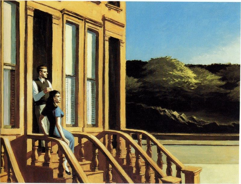 Edward Hopper Sunlight on Brownstones