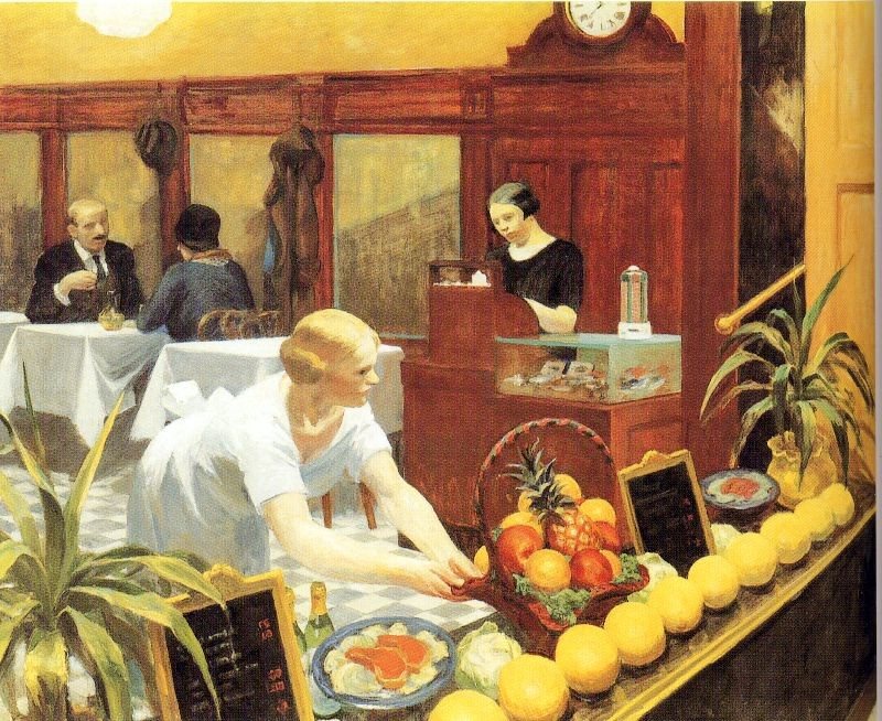 Edward Hopper Tables for Ladies