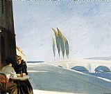 Edward Hopper Le Bistro or The Wine Shop painting
