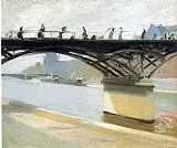 Edward Hopper Les Pont des Arts painting