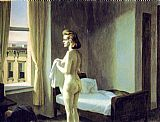 Edward Hopper Morning in a City painting