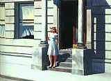 Edward Hopper Summertime painting