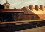 Edward Hopper The El Station painting