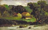 Edward Mitchell Bannister Rocky Farm, Newport painting