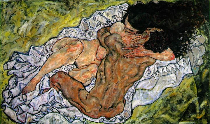 Egon Schiele The Embrace The Loving