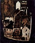 Egon Schiele Dead city or city on the blue river painting