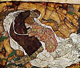 Egon Schiele Death and the Maiden painting