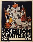 Egon Schiele Forty Ninth Secession Exhibition Poster painting