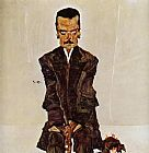 Egon Schiele Portrait of the Publisher Eduard Kismack painting