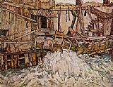 Egon Schiele The Mill painting
