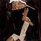Egon Schiele The Poet painting