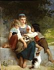Emile Munier The New Pets painting
