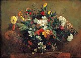 Still Life paintings - Flowers by Eugene Delacroix