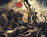 Eugene Delacroix Liberty Leading the People painting