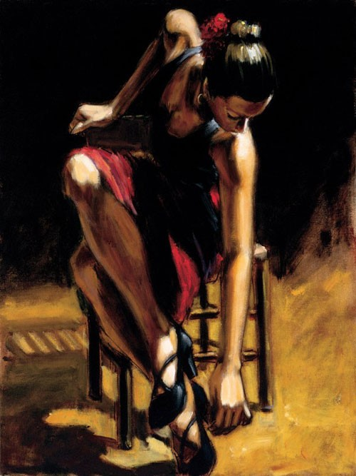 Fabian Perez Dancerin Red Skirt