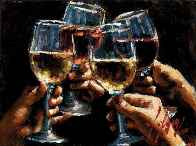 Fabian Perez Red White and Rose III