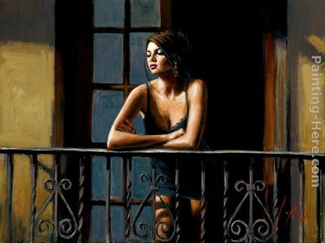 Fabian Perez Saba on the Balcony