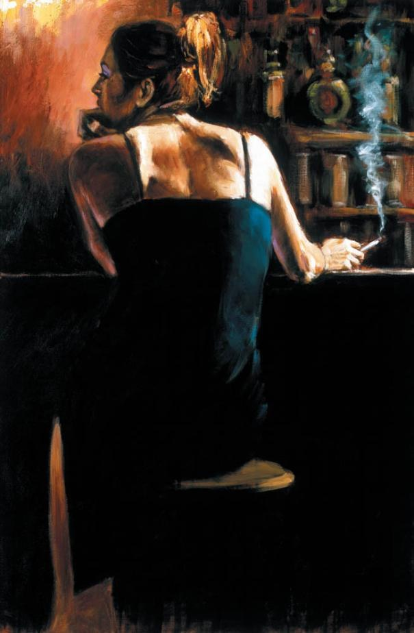 Fabian Perez Waiting for a Drink