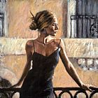 Fabian Perez BALCONY AT BUENOS AIRES III painting