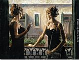Fabian Perez Balcony At Buenos Aires IV painting