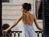 Fabian Perez Balcony at Buenos Aires II painting