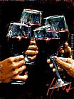 Still Life paintings - Brindis Con Tinto II by Fabian Perez